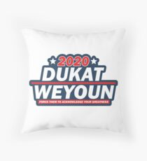 Dukat - Weyoun 2020 Presidentials  Throw Pillow