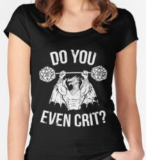 Do You Even Crit? - Ancient Swole'd Dragon Women's Fitted Scoop T-Shirt