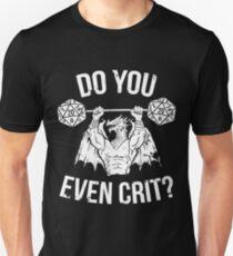 Camiseta ajustada ¿Incluso Crit? - Antiguo dragón swole'd