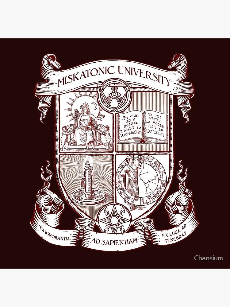 Miskatonic University Coat of Arms by Chaosium