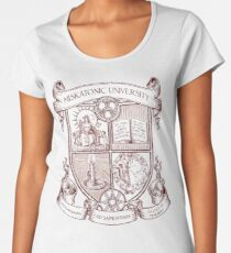 Miskatonic University Coat of Arms Premium Scoop T-Shirt