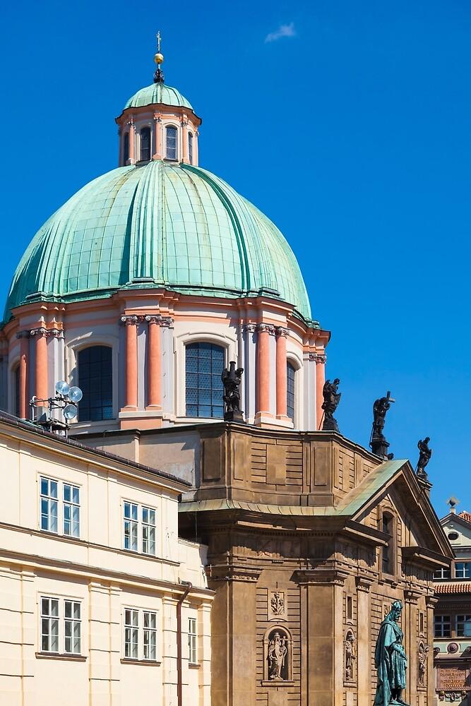 Prague 011 - The Dome of St. Francis Seraph Church by seeczechia