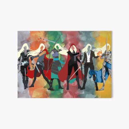 Throne of Glass Series Watercolor Art Board Print