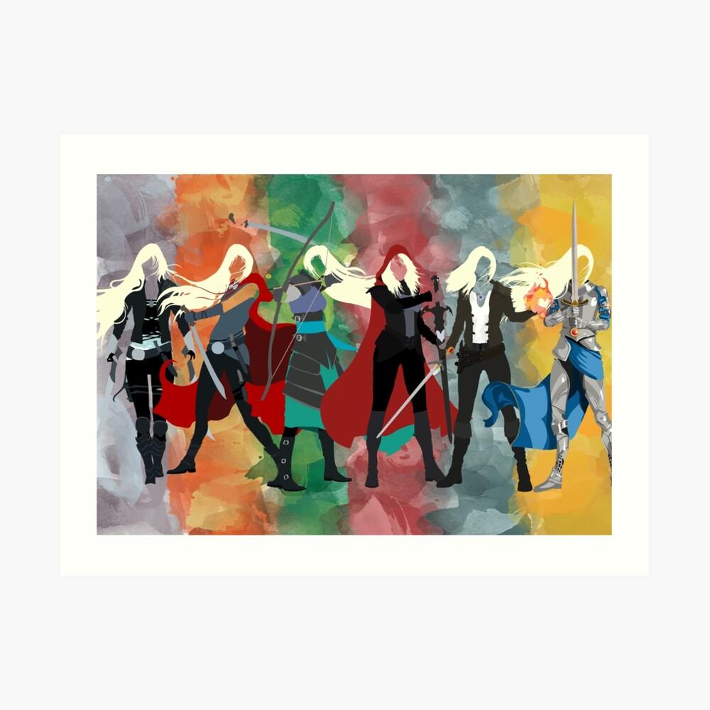 Throne of Glass Series Watercolor Art Print