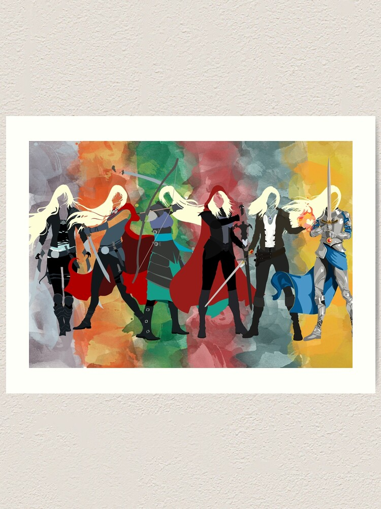 Alternate view of Throne of Glass Series Watercolor Art Print