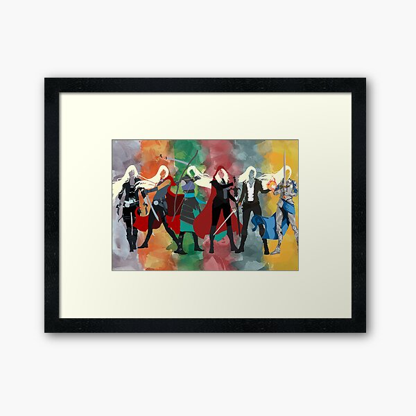 Throne of Glass Series Watercolor Framed Art Print
