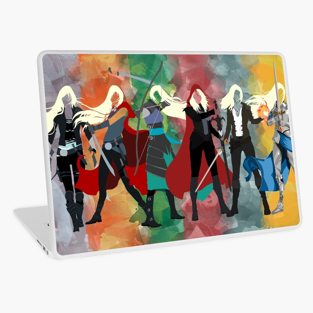 Throne of Glass Series Watercolor Laptop Skin