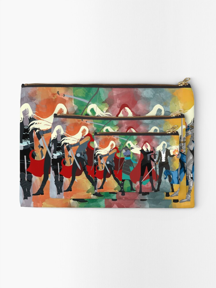 Alternate view of Throne of Glass Series Watercolor Zipper Pouch