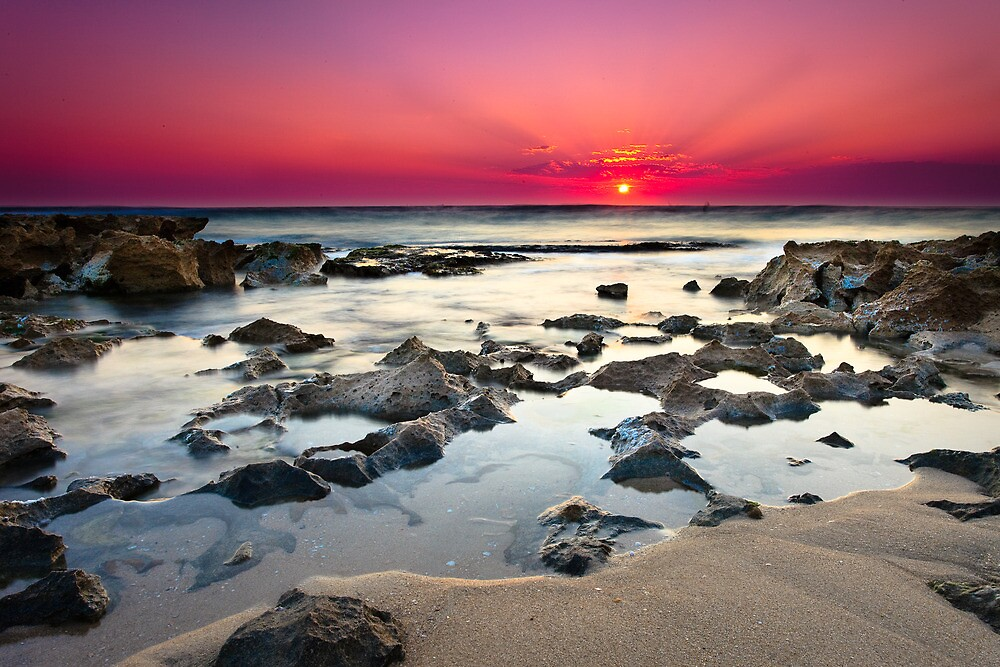 Beanion Beach Sunset by sixfootfour