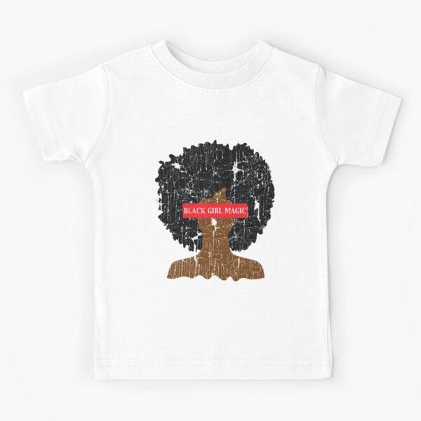 Black Girl Magic Afro Girl Kids T-Shirt