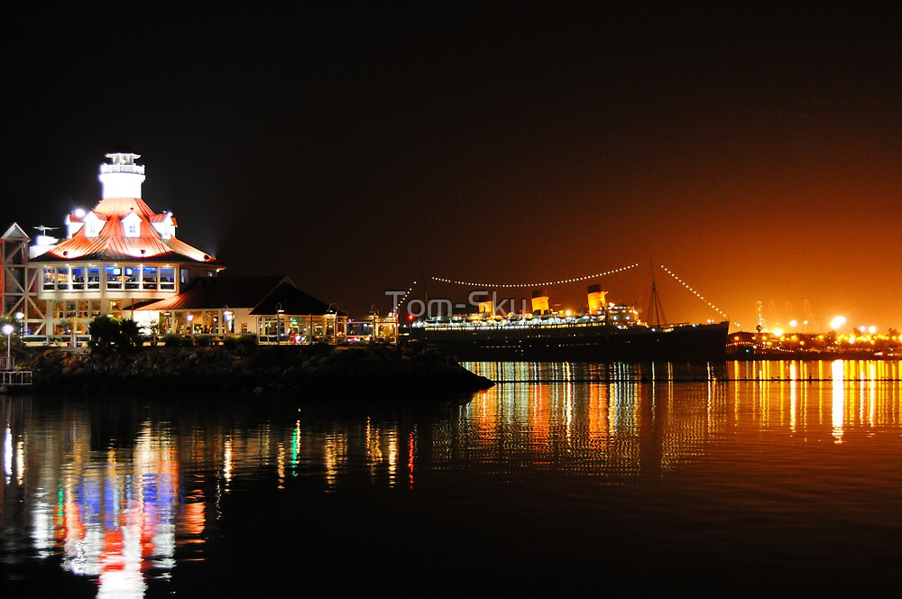 Shoreline Village at Night by Tom-Sky