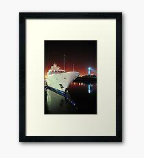 Long Beach Marina at Night Framed Print