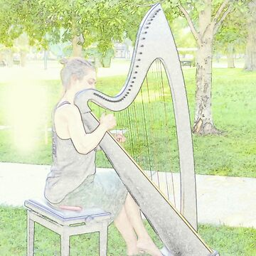 Harp in the Park by Vaengi