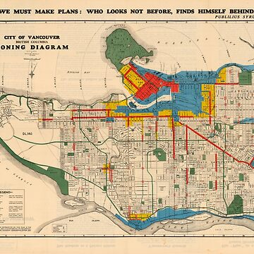 City of Vancouver, British Columbia : zoning diagram (1931) by FOVCA