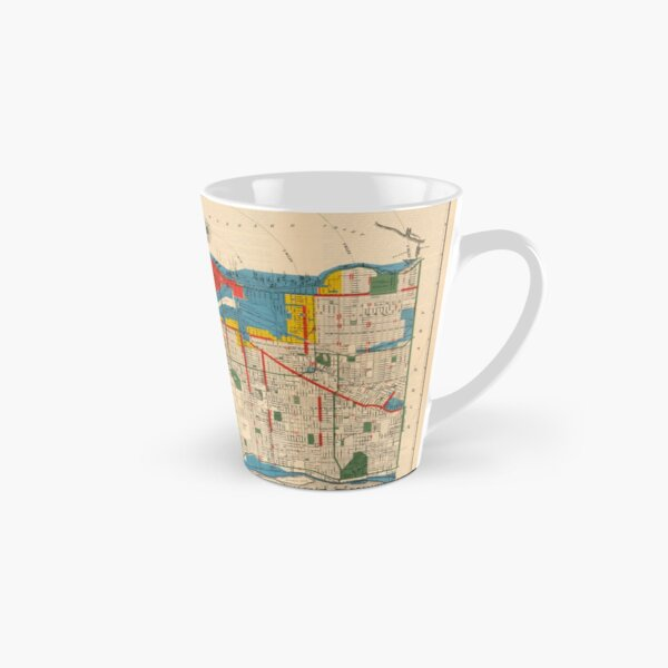 City of Vancouver, British Columbia : zoning diagram (1931) Tall Mug