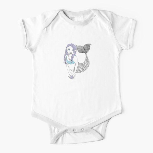 Mermaids Short Sleeve Baby One-Piece