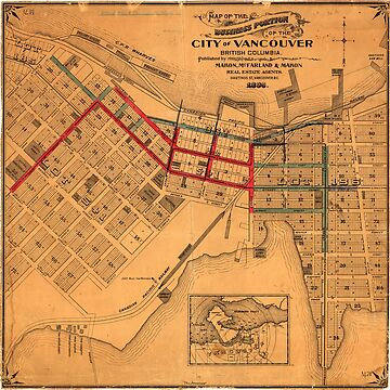 Map of the business portion of the City of Vancouver, British Columbia [early street paving] by FOVCA
