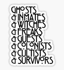 Ghosts& 2018 Black Text Sticker