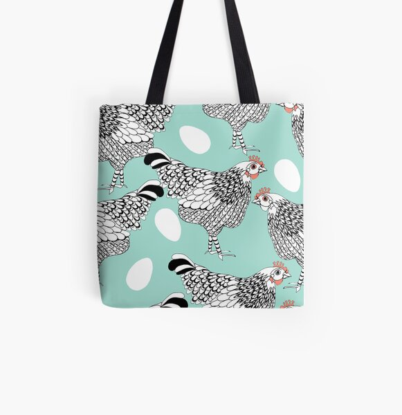The chicken and the egg All Over Print Tote Bag