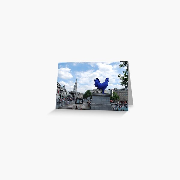 Big Blue Cock London Greeting Card