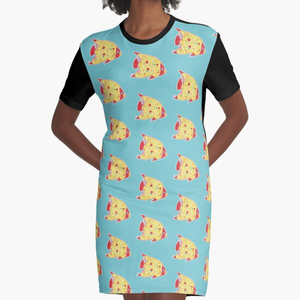 Little Tropical Fish Graphic T-Shirt Dress