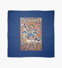 Buddhistische Malerei, Sechsarmiger Mahakala (Restauriertes tibetisches Kunstwerk) Tuch