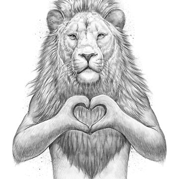 Lion with heart by NikKor