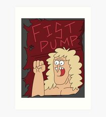 Fist Pump Poster Regular Show Art Print