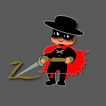 Retro Kid Billy features the legendary Zorro  by patjila