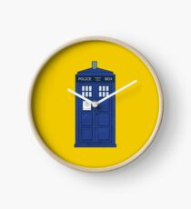 Blue Box { yellow background } Clock