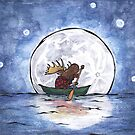 A Moose in a Canoe by Ardis Cheng