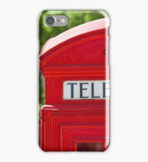 Red Phone Booth in London iPhone Case/Skin