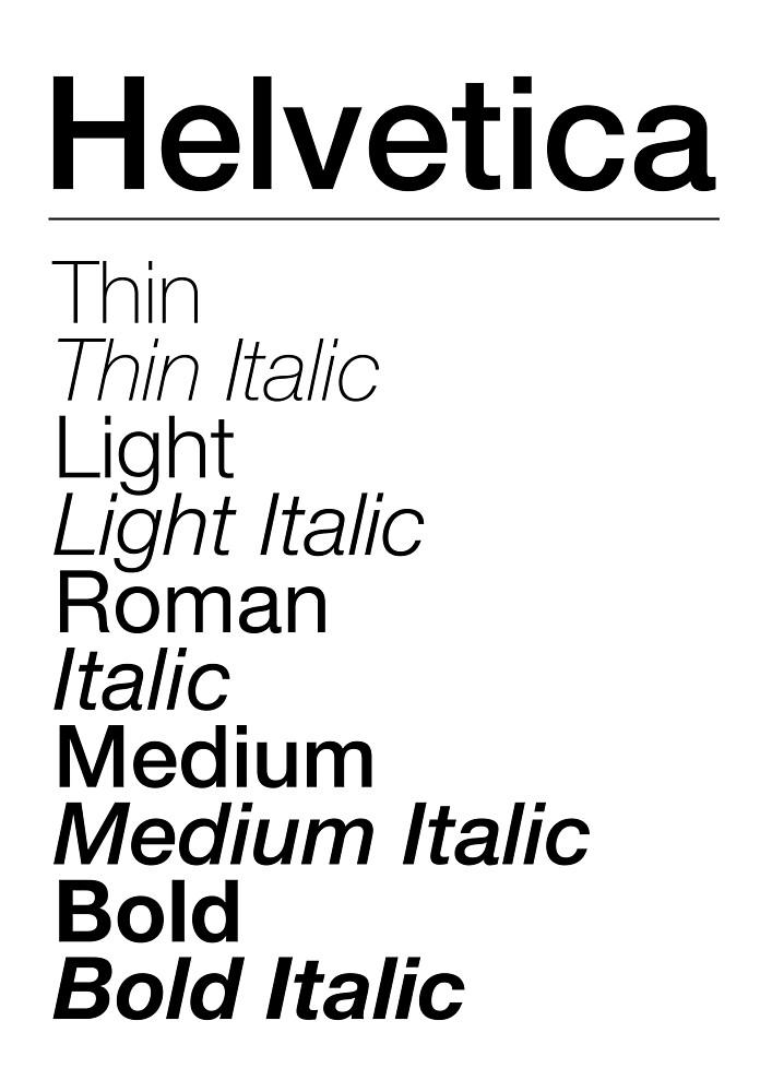 Helvetica Font Family