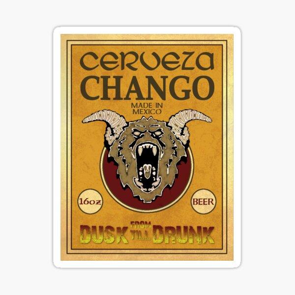 Cerveza Chango Beer Sticker