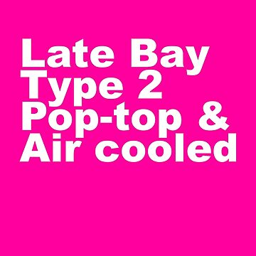 Late Bay Type 2 Pop Air White by splashgti
