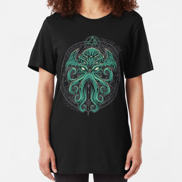 Great Cthulhu Slim Fit T-Shirt