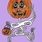 Trick or Treat Skully by Judy Boyle
