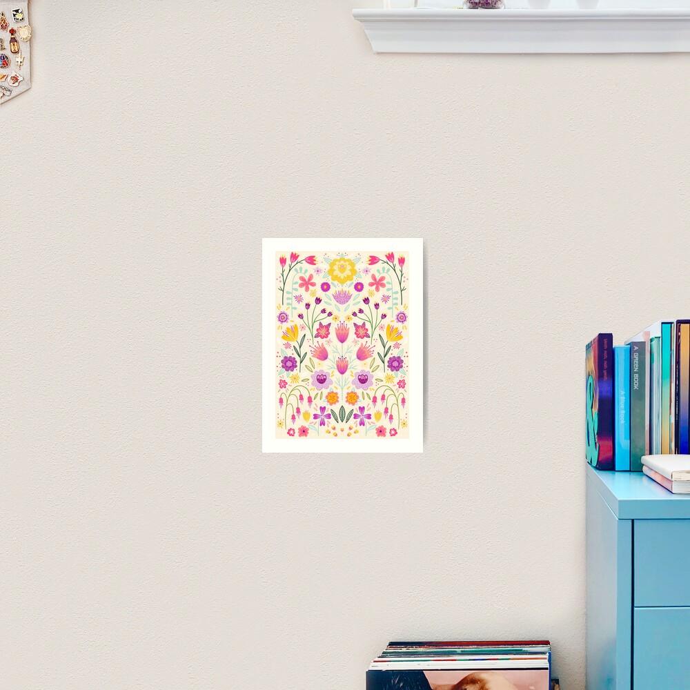 Bright Floral Symmetry Art Print