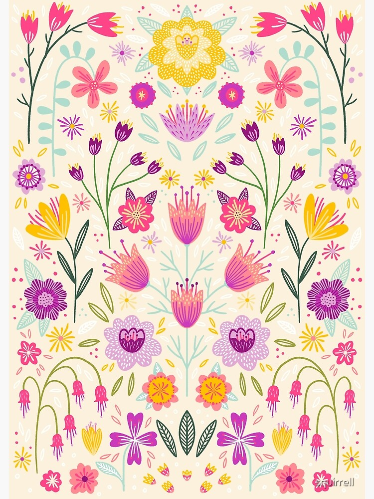 Bright Floral Symmetry by squirrell