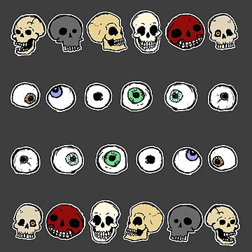 Skulls and Eyes by Obzsidan