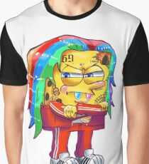 6ix9ine SpongeBob Graphic T-Shirt
