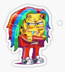 6ix9ine SpongeBob Sticker