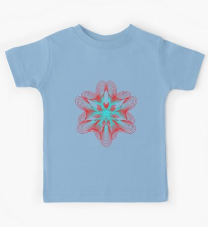 Spirograph with red and blue Kids Clothes