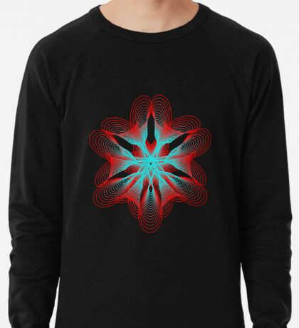 Spirograph with red and blue Lightweight Sweatshirt