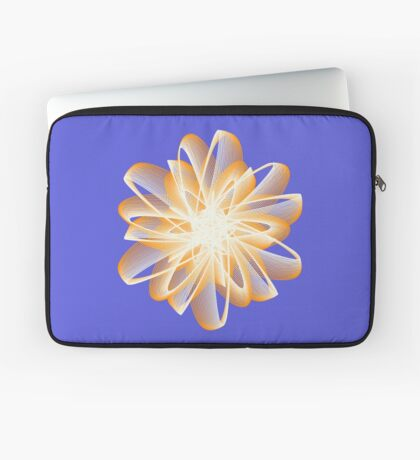 Abstract flower in orange Laptop Sleeve