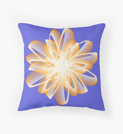 Abstract flower in orange Throw Pillow