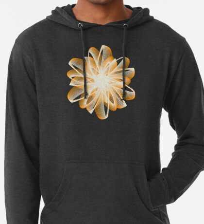 Abstract flower in orange Lightweight Hoodie