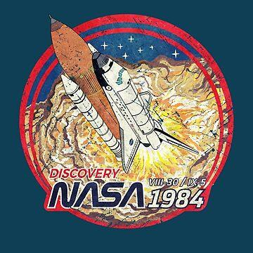 Nasa Discovery Launching Vintage Emblem by Lidra