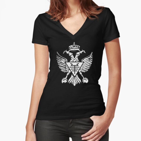 Two Headed Eagle Fitted V-Neck T-Shirt