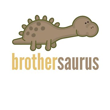 Brothersaurus Rex T-Shirt Family Dinosaur Shirt Set by DoggyStyles